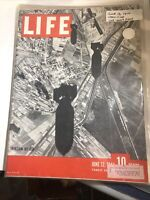 VTG Life Magazine June 12 1944 Invasion of Missiles by Air, In Plastic