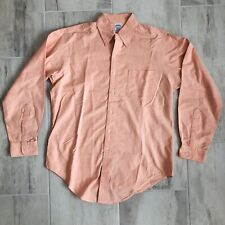 Brooks Brothers Makers Button Down Shirt 16-4 Slim Fit Salmon Pink USA Preppy