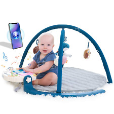 New listing Angelbliss Activity Gym Baby Play Mat with Music and Detachable Piano with Bluto