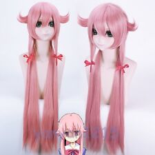 W-04-bc27 rose pink 80cm cosplay perruque wig Hitzefest anime manga Long Lisse