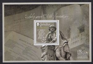 Gibraltar- Shakespeare 450 Anniversary Miniature Sheet Collectible Postage Stamp