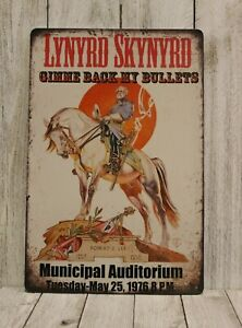 Lynyrd Skynyrd Live in Concert Tin Poster Sign Rustic Vintage Style Bar Man Cave
