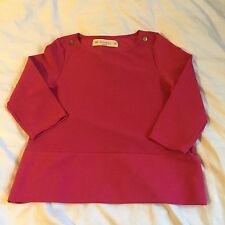 ZARA KNIT WOMEN'S BOXY STYLE 3/4 SLEEVE KNIT SHIRT~SIZE S/SMALL~HOT PINK~NWOT