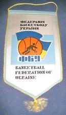 UKRAINE BASKETBALL FEDERATION OFFICIAL PENNANT 24x14cm