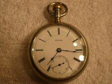 Vintage Rockford Pocket Watch 1891 Silver Tone Case 18s 15 Jewels SILVER