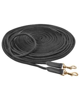 Doppellonge Gurtband mit Seilenden Longierleine Longe Bodenarbeit Handarbeit 16m