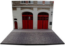 Diorama présentoir Caserne de pompiers - Fire Station - 1/43ème - #43-2-E-E-003