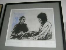 "Ron ""Ronnie"" Wood signed art print: Charlie and Ronnie at Sandymount"