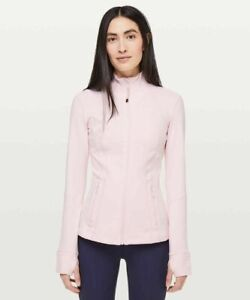 LULULEMON Define Light Pink Athletic Jacket Women's Size 8  Thumbholes, Pockets