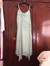 BNWT Ladies Green Chiffon Mint Green Dress With Sequence Details. Size 12