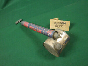 Vintage Hudson garden sprayer/spray duster 1950s 60s Galvanized metal drum