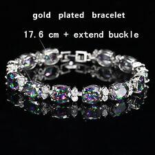 White Gold Plated Mystic topaz Bracelet