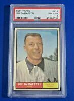 1961 TOPPS Joe DeMaestri BASEBALL CARD #116 ~ PSA 8
