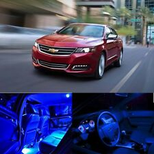 For 14-17 Chevy Chevrolet Impala LED Light Interior BLUE LED Bulb Package Qty 7