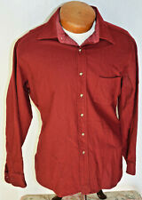 Pendleton Maroon Shirt Large Mens Vintage Wool Hunting Trail Euc L