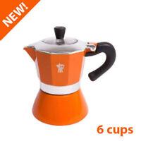 6 CUP Pezzetti MOKA Espresso Coffee Maker Percolator Perculator Stovetop Orange