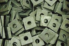 (100) Galvanized Malleable 3/8 Square Bevel Washers I-Beam Flange Wedge