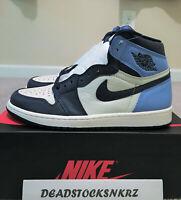 2019 Nike Air Jordan 1 Retro High OG Obsidian UNC 555088 140 Mens Sizes