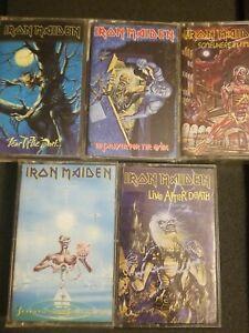 Iron Maiden Vintage Cassette Tape Lot