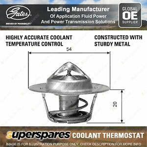 Gates Coolant Thermostat + Gaskets & Seals for Holden H Series HK GMH 186 3.0L
