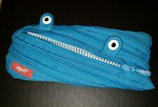 Zipit Monster Pencil Pouch Pencil Bag -Zipper Teeth Eyes Zippered Zip It Blue