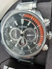 CITIZEN Eco-Drive Chronograph Stainless Steel Bracelet watch CA4330-57E New