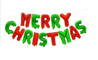 Merry Christmas Balloons Banner Balloon Bunting Party Decoration Self Inflating