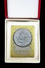 1967 JO MUNKAERT HUNGARY BRASS BOXING MEDAL IN BOX