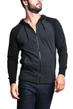 Victorious Men's Raglan Light Weight Zip Down Hoodie Fitness Sweater-TH864-A4G
