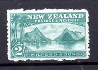 New Zealand 1902-03 2/- Milford Sound mint no gum #316 WS21242