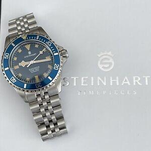 Steinhart Gnomon Ocean 39 Marine Blue Dive Watch With Jubilee Bracelet