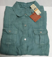 Tommy Bahama Two Palms 100% Linen Button Shirt short sleeve, Azure- water NWT