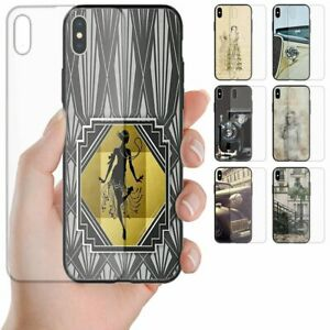 For Huawei Series - 1930s Lifestyle Theme Print Tempered Glass Phone Back Cover