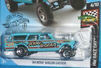 2019 HOT WHEELS 64 Chevy Nova Station Wagon Gasser 198/250 HW RACE DAY 4/10 1964
