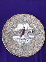 Vintage Mason's Ironstone Plate Chaucer's Canterbury Pilgrims The Franklin 1983