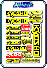 KYOSHO MODEL RC CAR DRONE BOAT BUGGY MINI Z STICKERS DECALS ROBOT R/C YELLOW B