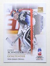 2019 BY cards IIHF WC Team USA #03 Cory Schneider