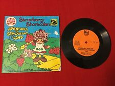 vintage Strawberry Shortcake record + story book ~ Adventures in Strawberry Land
