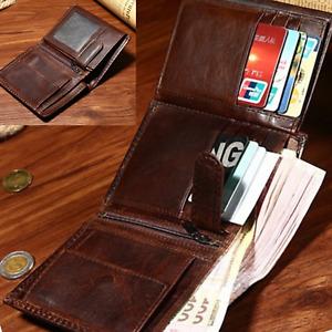 New Leather Credit Card Holder Men's Money Cash Wallet Coin RFID Blocking Purse