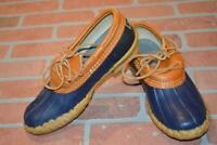 1967-a Mens L.L. Bean MAINE Hunting Duck Boots Size 8 D Brown Blue