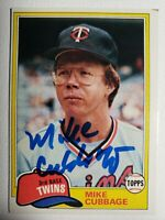 1981 Topps Mike Cubbage Auto Autograph Card Twins Rangers Signed #657