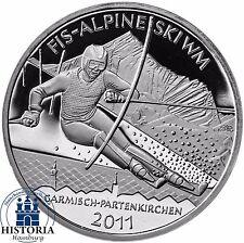 Deutschland 10 Euro 2010 FIS Alpine Ski WM 2011 Silber-Gedenk-Münze Spiegelglanz