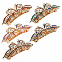 Metal Butterfly Shape Faux Rhinestones Inlaid Beaty French Hair Clip Barrette