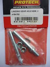 Protech Axles 40mm Long x 6mm Dia x 55mm o/a Length (1 pair)