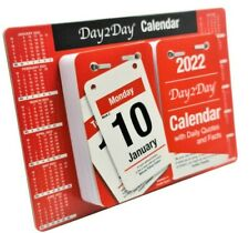 More details for 2022 day to view stand up tear off desk office calendar planner quotes & facts