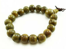 Fragrant Green Sandalwood Martial Arts Buddha Prayer Beads Mala Bracelet 7""