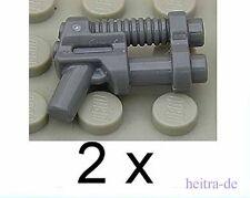 LEGO  - 2 x doppelläufige Pistole dunkelgrau / Blaster / Waffe / 95199 NEUWARE