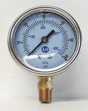 NEW Pressure Gauge Liquid Filled 0 - 60 psi 400 kpa Air Water Guage Gage AIP