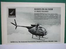 5/1969 PUB NARDI SA MILANO HUGHES OH-6A 500M 23 WORLD RECORDS ORIGINAL AD