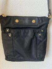 MARC JACOBS Preppy Black Nylon Crossbody Messenger Bag
